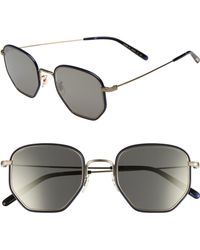 54c8abf57c5 Lyst - Tom Ford Johnson Navy And Gold Frames With Blue Lenses ...