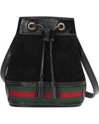 f16cfa39afd Lyst - Gucci Red Leather   Suede Large Bamboo Backpack in Red