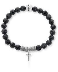 Steve Madden | Lava Rock Bead Bracelet | Lyst