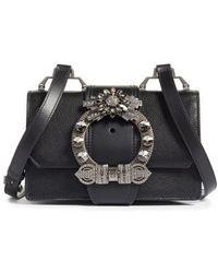 Miu Miu | Madras Crystal Embellished Leather Shoulder Bag | Lyst