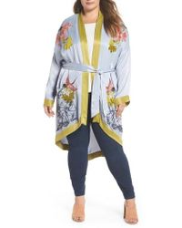 Lost Ink - Embroidered Kimono - Lyst