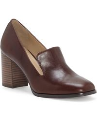 Enzo Angiolini - Maxie Leather Block Heel Loafer Pumps - Lyst