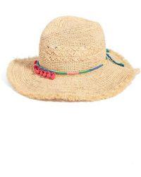 Caslon - Caslon Packable Raffia Panama Hat - Lyst
