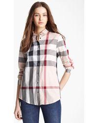 69808e6a7189b2 Lyst - Women s Burberry Brit Tops Online Sale