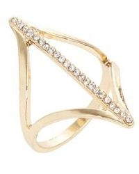 TOPSHOP - Pave Cutout Ring - Lyst