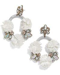 BaubleBar - Ice Lily Hoop Earrings - Lyst
