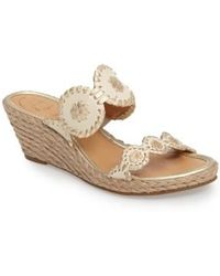Jack Rogers - 'shelby' Whipstitched Wedge Sandal - Lyst