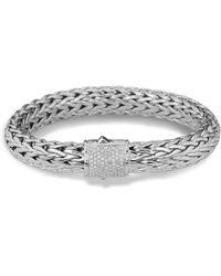 John Hardy - Classic Chain Bracelet With Pave Diamonds - Lyst