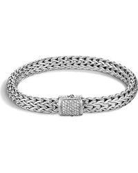 John Hardy - 'classic Chain' Diamond Medium Bracelet - Lyst
