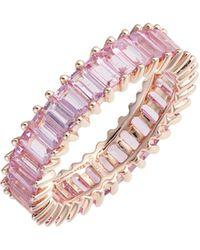 Dana Rebecca - Kristyn Kylie Pink Sapphire Eternity Ring - Lyst
