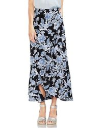 Vince Camuto - Ruffled Faux Wrap Floral Skirt - Lyst