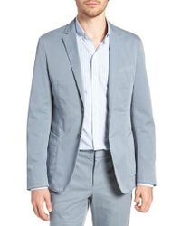 BOSS - Hanry-d Trim Fit Stretch Cotton Blazer - Lyst