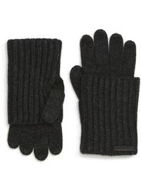AllSaints - Ribbed Cuff Convertible Gloves - Lyst