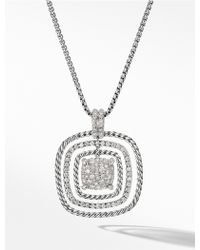 David Yurman - Chatelaine Pave Pendant Necklace - Lyst