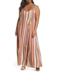 RACHEL Rachel Roy - Stripe Strappy Maxi Dress - Lyst