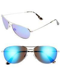 9dd2e2942c3 Maui Jim - Sea House 60mm Polarized Titanium Aviator Sunglasses - Lyst