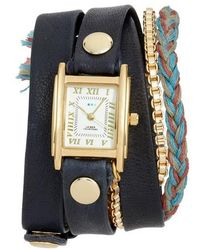 La Mer Collections - Brunello Leather & Chain Wrap Watch - Lyst