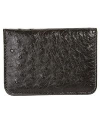Mezlan - Ostrich Leather Card Case - Lyst