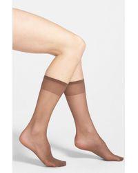 Nordstrom - 3-pack Sheer Knee Highs, Beige - Lyst