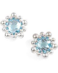 Anzie - Micro Dew Drop Topaz Earrings - Lyst