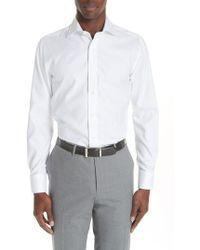 Canali - Regular Fit Solid Dress Shirt - Lyst