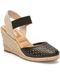 4d25e2fd351 Lyst - Me Too Bettina Espadrille Wedge Sandal in Brown