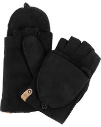 Mackage - Orea Pop Top Sheepskin Leather Mittens - Lyst