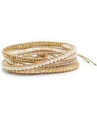 Chan Luu - Cultured Pearl & White Opal Wrap Bracelet - Lyst