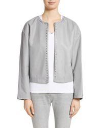 Fabiana Filippi - Studded Nappa Leather Jacket - Lyst