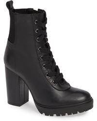b217b5db0e384 Lyst - Sam Edelman  ridge  Latch Strap Leather Boots in Black