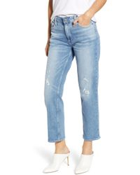 PAIGE - Noella Crop Straight Leg Jeans - Lyst