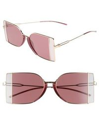 CALVIN KLEIN 205W39NYC - 51mm Butterfly Sunglasses - Light Gold - Lyst