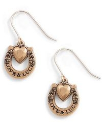 ALEX AND ANI - Fortune's Favor Drop Earrings - Lyst