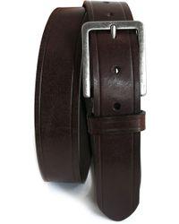 Boconi - Embossed Leather Belt - Lyst