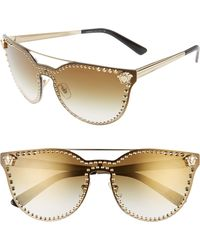 Versace - Medusa Stud 145mm Shield Sunglasses - - Lyst