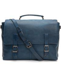 Frye - Logan Leather Briefcase - Lyst