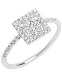 Bony Levy - Amara Diamond Square Ring - Lyst