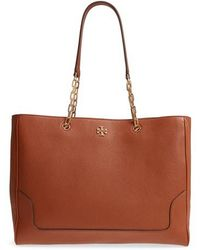 Tory Burch - Marsden Pebbled Leather Tote - - Lyst