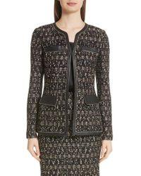St. John - Gilded Eyelash Knit Jacket - Lyst