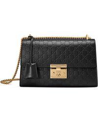 Gucci - Medium Padlock Signature Leather Shoulder Bag - Lyst