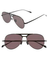 Valley Eyewear - Manubrium Zero 58mm Navigator Sunglasses - Gloss Black/ Black - Lyst
