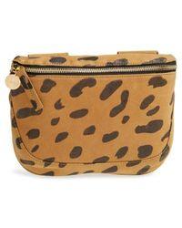 Clare V. - 'fanny Pack' Jaguar Print Leather Belt Bag - - Lyst