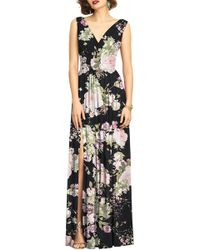 Dessy Collection - Surplice Ruched Chiffon Gown - Lyst