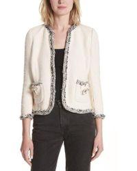 Rebecca Taylor - Braided Trim Tweed Jacket - Lyst