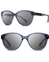 Shwood - 'madison' 54mm Round Sunglasses - Lyst