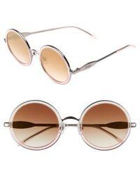 Wildfox - Ryder Zero 49mm Flat Round Sunglasses - Glitz - Lyst