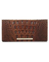 Brahmin - 'ady' Croc Embossed Continental Wallet - Lyst
