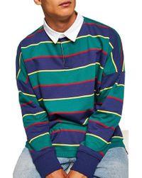 TOPMAN - Rugby Stripe Shirt - Lyst