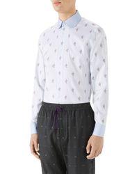 Gucci - Kingsnake Fil Coupe Sport Shirt - Lyst