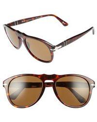 Persol - 54mm Polarized Keyhole Retro Sunglasses - - Lyst